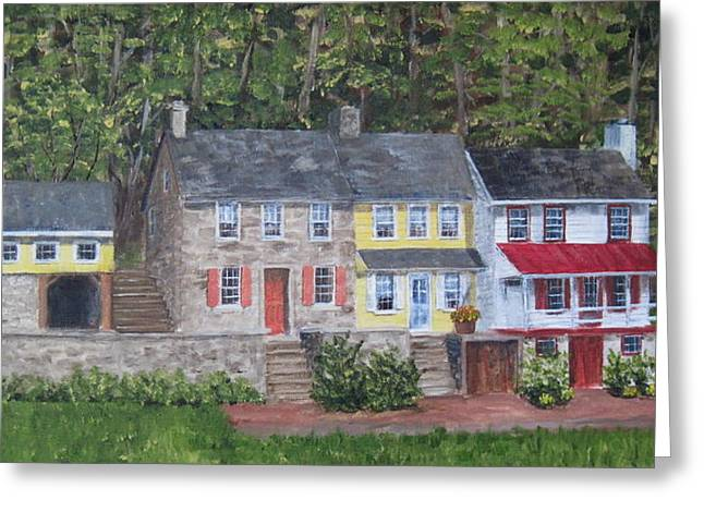 On The Road To Frenchtown Greeting Card by Margie Perry