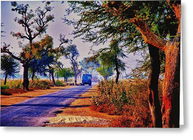 Greeting Card featuring the photograph On The Road To Jaipur by Rick Bragan
