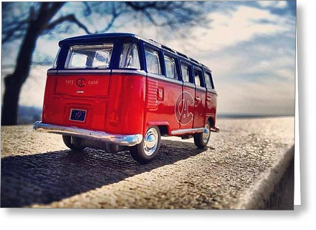 On The Road... #vw #vwbus #bus #habs Greeting Card