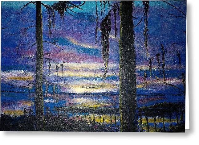 On The Shore Of Waccamaw Greeting Card