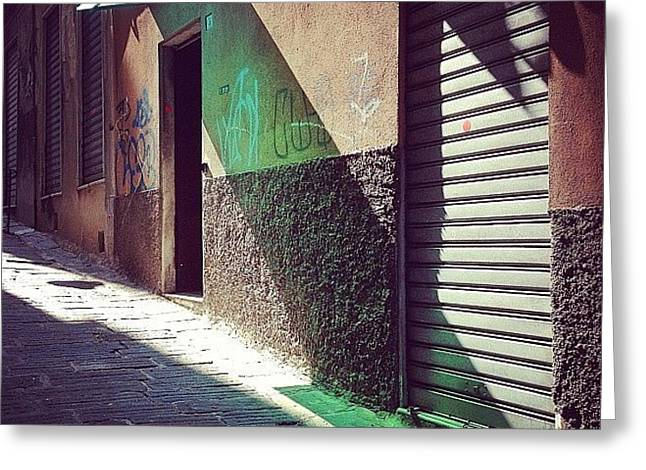 On The Sunny Side Of The Street #italy Greeting Card