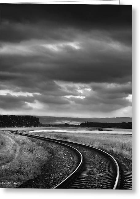 On The Track I. Greeting Card by Jaromir Hron