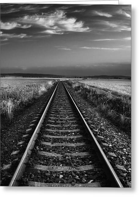 On The Track II. Greeting Card by Jaromir Hron