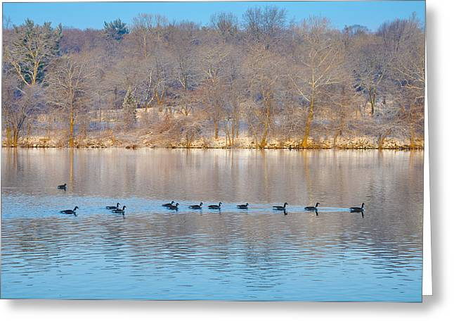 On The Water Greeting Card by Bill Cannon