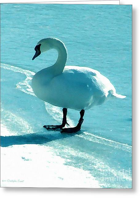 On Thin Ice Greeting Card by Cristophers Dream Artistry