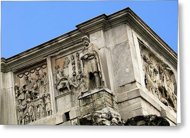 On Top Of The Arch Of Constantine Greeting Card