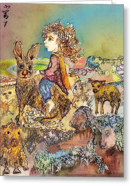 Once I Knew My Name  Greeting Card by Cynthia  Richards