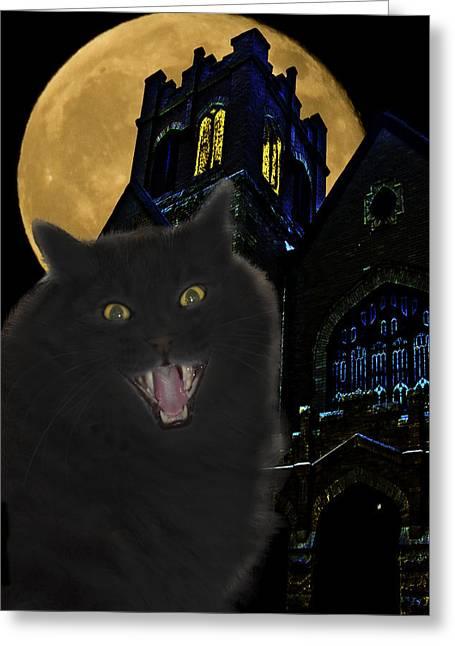 One Dark Halloween Night Greeting Card