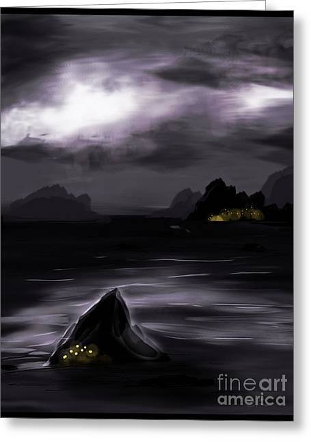 One Dark Night Greeting Card by J Kinion