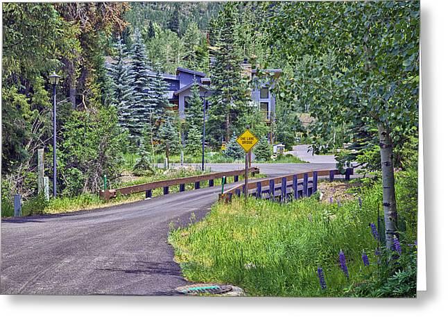 One Lane Bridge - Vail Greeting Card by Madeline Ellis