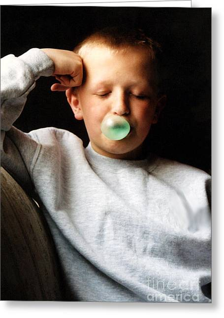One More Bubble Greeting Card by Susan Stevenson