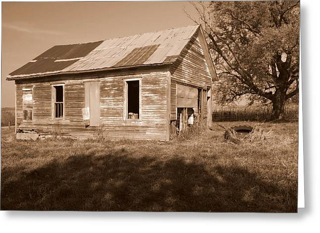 One Room School House Greeting Card by Rick Rauzi