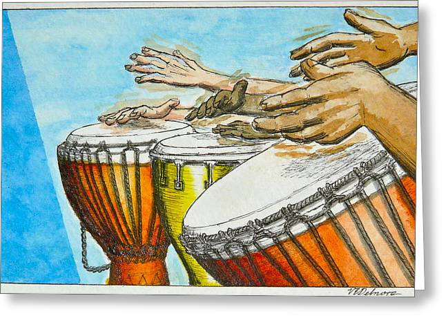 One Song Many Hands Greeting Card