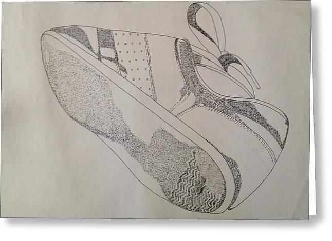 One Tennis Shoe Greeting Card