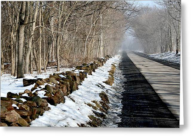 One Track Road Greeting Card