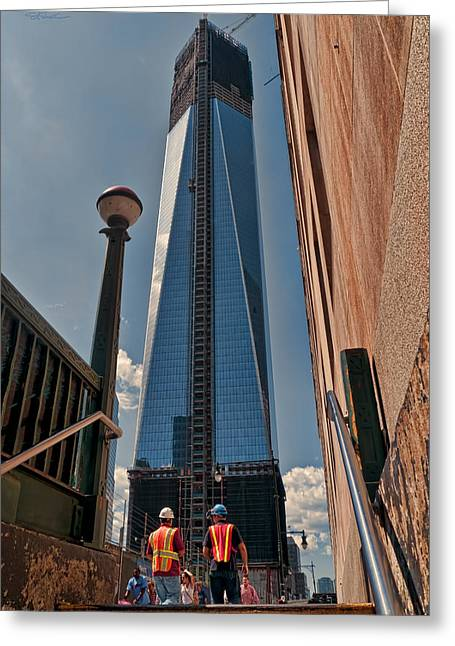One Wtc First Look Greeting Card