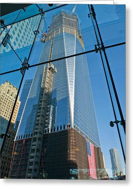 One Wtc Rising Greeting Card