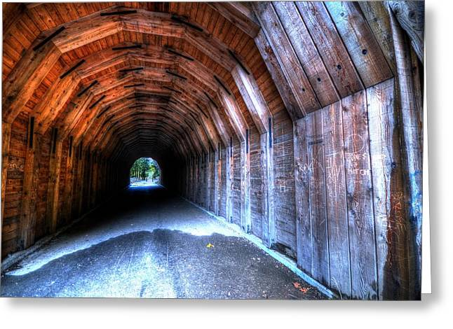 Oneonta Gorge Tunnel Greeting Card