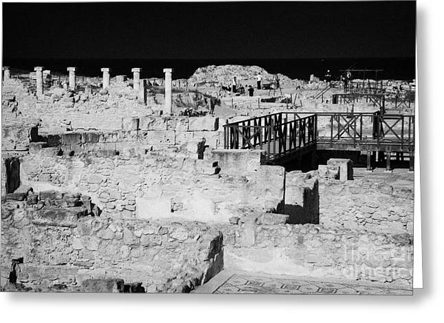 Ongoing Archeological Dig At The House Of Dionysos Roman Villa At Paphos Archeological Park Cyprus Greeting Card by Joe Fox