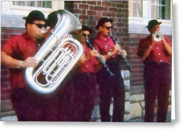 Oompah Band Greeting Card