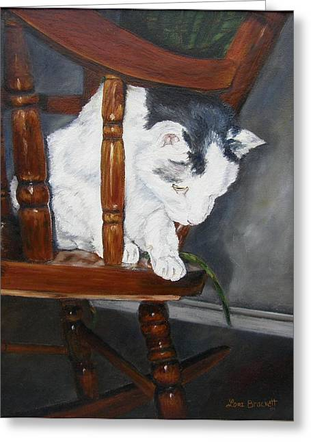Greeting Card featuring the painting Oops by Lori Brackett