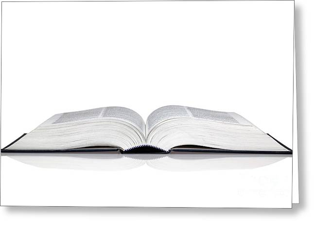 Open Book Greeting Card by Richard Thomas