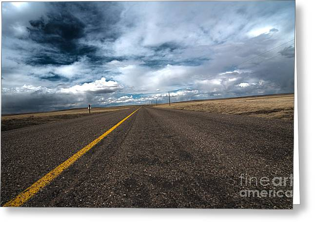 Open Highway Greeting Card by Arjuna Kodisinghe