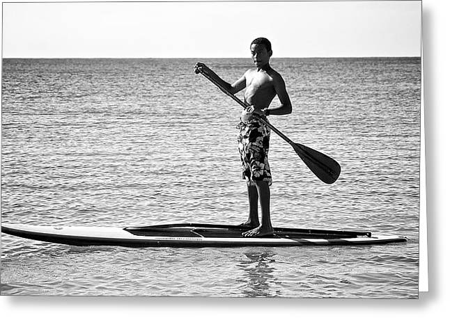Open Paddle Greeting Card