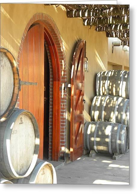 Open Vineyard Door Greeting Card