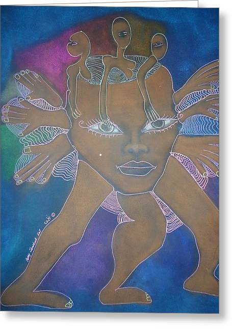 Open Your Eyes To Life Greeting Card by Cathy Snowbeck