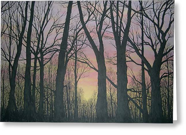 Greeting Card featuring the painting Opening Day - Northern Hardwoods by Kathleen McDermott