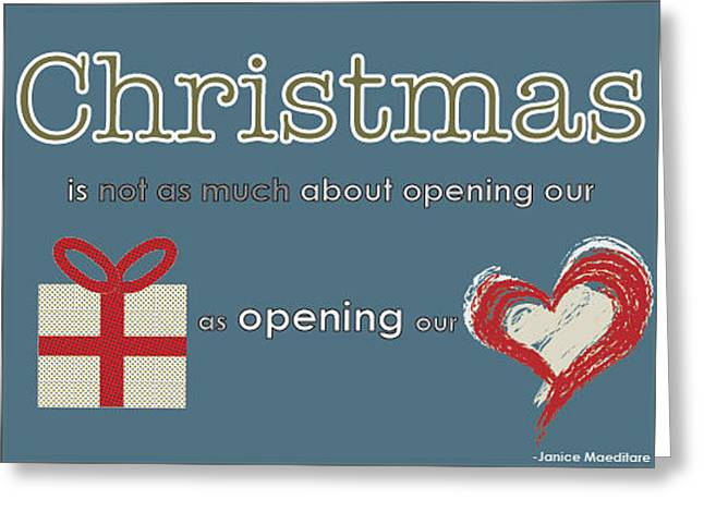 Opening Our Hearts Greeting Card by Katie Hester