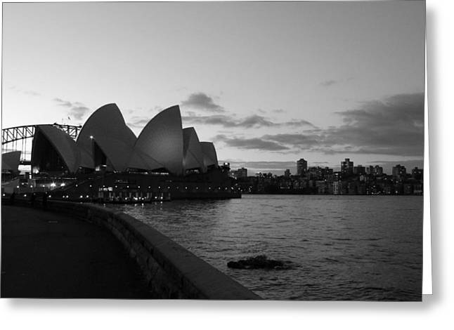 Opera House - Sunset  Greeting Card by Harlan Fijal-Campbell