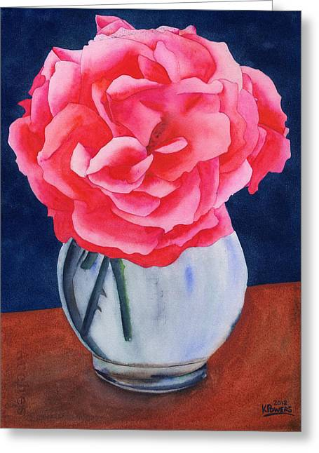 Greeting Card featuring the painting Opera Rose by Ken Powers