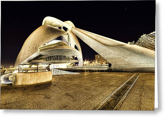 Opera Valencia Greeting Card by Gabriel Calahorra