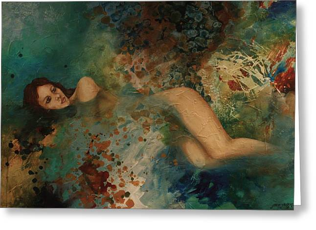 Ophelia Greeting Card by Gonca Yengin