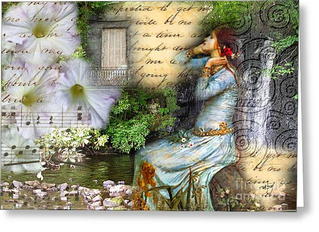 Ophelia In Nature Greeting Card