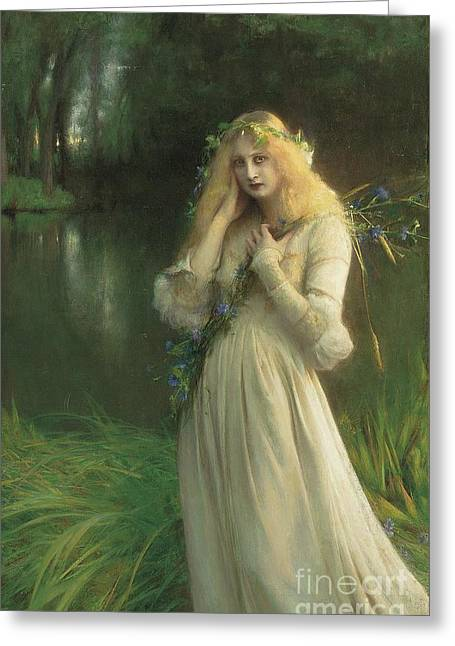 Ophelia Greeting Card by Pascal Adolphe Jean Dagnan Bouveret
