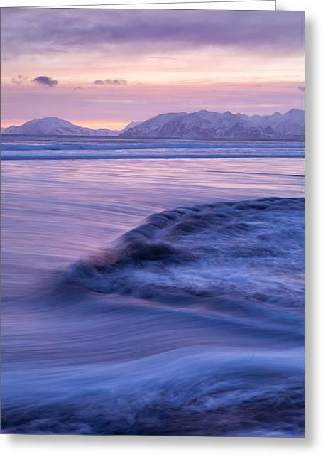 Opposing Waves Greeting Card by Tim Grams