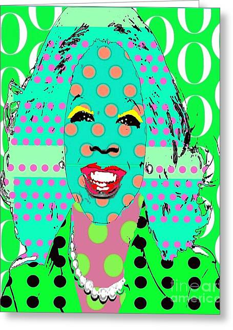 Oprah Greeting Card by Ricky Sencion