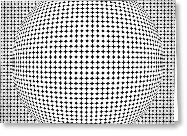 Optical Illusion Ball Greeting Card by Sumit Mehndiratta