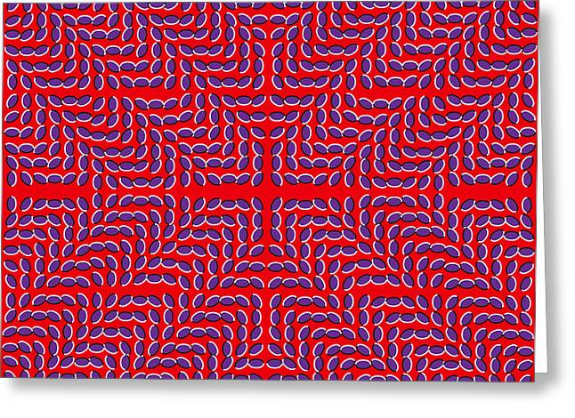 Optical Illusion Mark X Greeting Card by Sumit Mehndiratta
