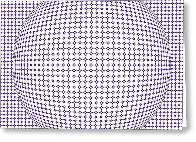 Optical Illusion Purple Ball Greeting Card