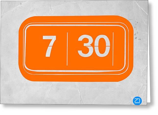 Orange Alarm Greeting Card