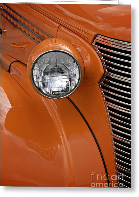 Orange Chevrolet Greeting Card