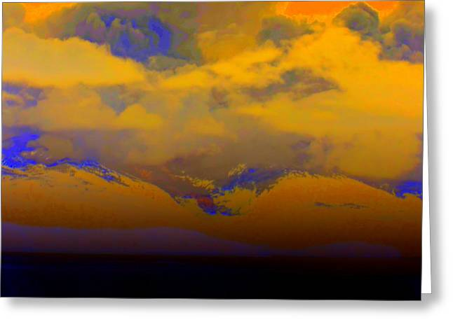 Orange Clouds Greeting Card by Randall Weidner