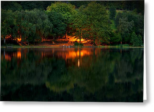 Orange Light Greeting Card by Svetlana Sewell