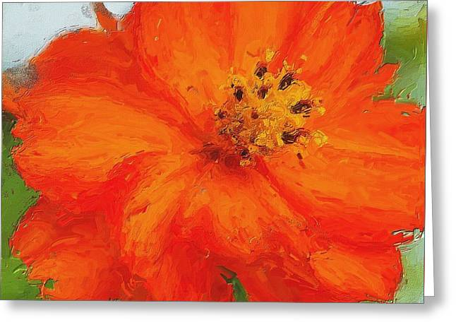 Orange Greeting Card by Michelle Joseph-Long