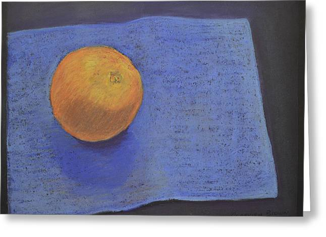 Orange On Blue Greeting Card
