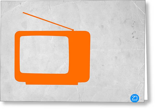 Orange Tv Vintage Greeting Card by Naxart Studio